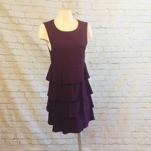 Theory Plum Ruffle Dress